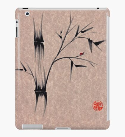 The Ladybug Sleeps - india ink brush pen bamboo drawing iPad Case/Skin