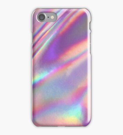 Holographic Sea in pink iPhone Case/Skin