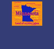 Colorful Minnesota State Pride Map Unisex T-Shirt