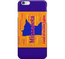 Colorful Minnesota State Pride Map iPhone Case/Skin