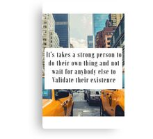 strong person Canvas Print