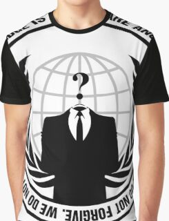 High Quality Anonymous Seal Tapestry and Sticker Graphic T-Shirt