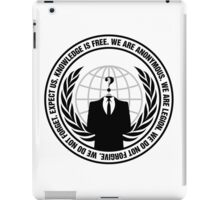 High Quality Anonymous Seal Tapestry and Sticker iPad Case/Skin