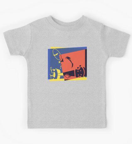Pop Art Jazz Guitar Player Kids Tee