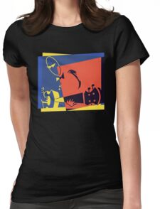Pop Art Jazz Guitar Player Womens Fitted T-Shirt