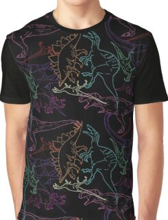 Psychedelic Dino Graphic T-Shirt