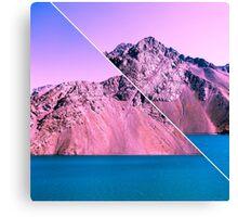 Landscape Glitch Canvas Print
