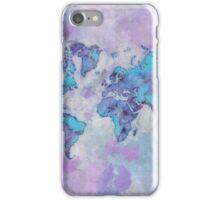 World Map Purple iPhone Case/Skin