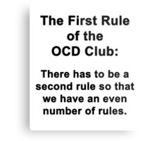 The First Rule of the OCD Club Metal Print