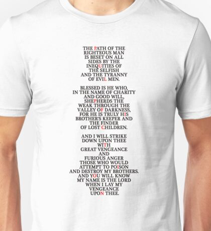 Pulp Fiction - Ezekiel 25:17 Unisex T-Shirt