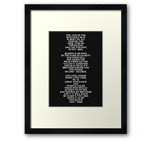 Pulp Fiction - Ezekiel 25:17 Framed Print
