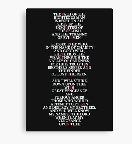 Pulp Fiction - Ezekiel 25:17 Canvas Print