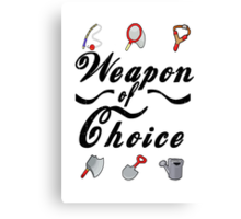 Animal Crossing- Weapon of Choice Canvas Print