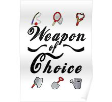 Animal Crossing- Weapon of Choice Poster