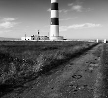 Tarbat Ness Lighthouse B&W by kjdesigns