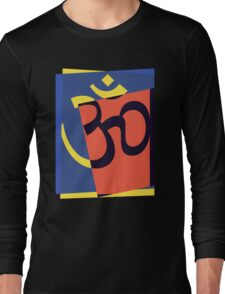 Pop Art Om Symbol Long Sleeve T-Shirt