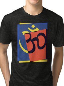 Pop Art Om Symbol Tri-blend T-Shirt
