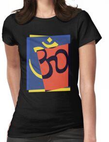 Pop Art Om Symbol Womens Fitted T-Shirt