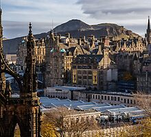 The old town from Princes street by Graeme  Ross