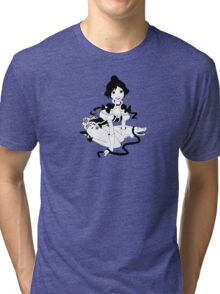 Pinup Tightrope Girl - Haunted Mansion Tri-blend T-Shirt