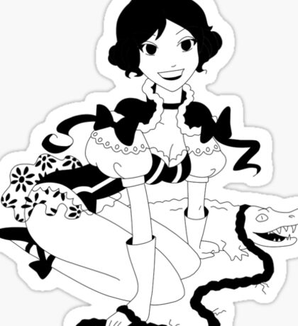 Pinup Tightrope Girl - Haunted Mansion Sticker