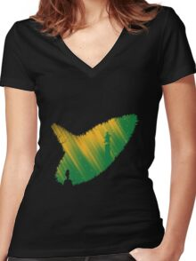 Ocarina of Time Women's Fitted V-Neck T-Shirt