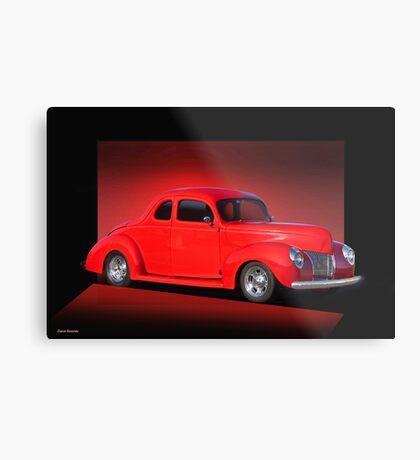 1940 Ford Coupe 'Now on Stage' Metal Print