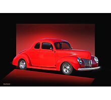 1940 Ford Coupe 'Now on Stage' Photographic Print