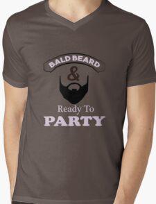 Bald Beard Ready to Party Mens V-Neck T-Shirt