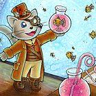 Steampunk Cat by bayleejae