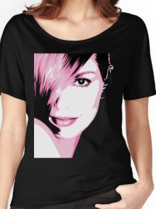 Cindy Crawford vector drawing Women's Relaxed Fit T-Shirt