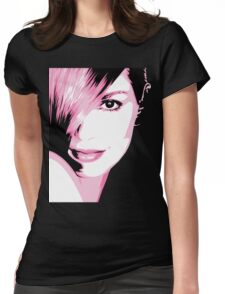 Cindy Crawford vector drawing Womens Fitted T-Shirt