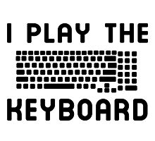 I play the keyboard Photographic Print