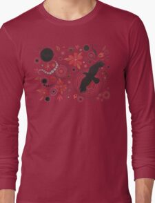 SUNSET RAVEN - GARDEN PARTY ART Long Sleeve T-Shirt