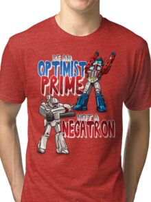 Optomist Prime - Negatron Tri-blend T-Shirt