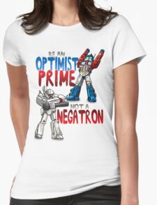 Optomist Prime - Negatron Womens Fitted T-Shirt