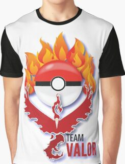 Valor Red Team, Pokemon GO Flames Graphic T-Shirt