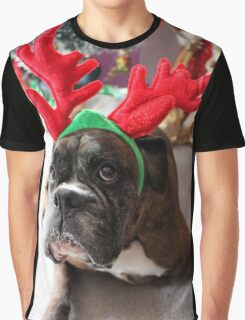 Reindeer This Year?...... Anything For That Cookie! - Boxer Dogs Series Graphic T-Shirt