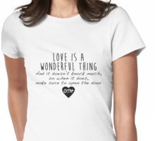 One Tree Hill - Love is a wonderful thing Womens Fitted T-Shirt