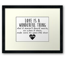 One Tree Hill - Love is a wonderful thing Framed Print