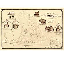 Map Of Marthas Vineyard 1866 Photographic Print