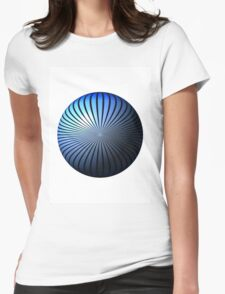 Blue Star Globe Womens Fitted T-Shirt