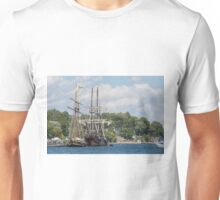 Tall Ships on the St. Lawrence River Unisex T-Shirt