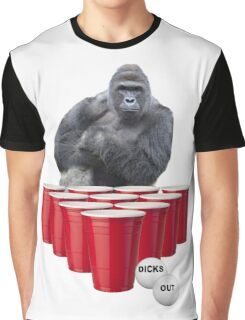 Harambe Beer Pong Graphic T-Shirt