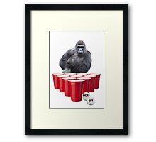 Harambe Beer Pong Framed Print