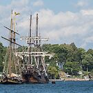 Tall Ships on the St. Lawrence River by Josef Pittner