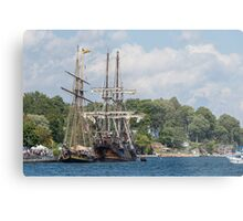 Tall Ships on the St. Lawrence River Metal Print