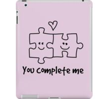 You complete me puzzle illustration iPad Case/Skin