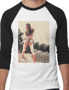 "Kinky posing and ""Dat ass"", sexy girl in hot pose Men's Baseball ¾ T-Shirt"