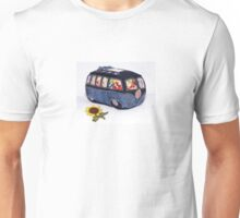 VW Sun Flower Denim Bus Unisex T-Shirt